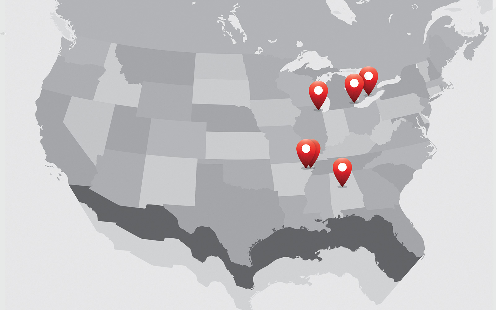 Mill Locations Map